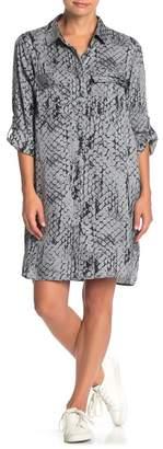Velvet Heart Marlin Snake Print Shirt Dress