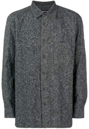 Issey Miyake printed button shirt