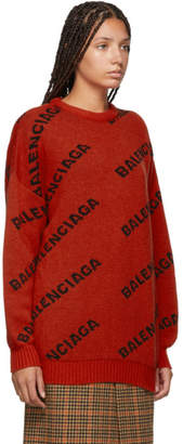 Balenciaga Orange Logo Sweater