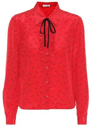 Miu Miu Polka-dot silk blouse
