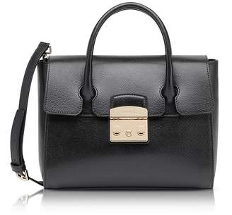 Furla Onyx Grained Leather Metropolis Small Satchel