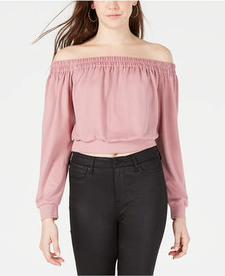Material Girl Juniors' Off-The-Shoulder Sweatshirt, Created for Macy's