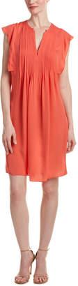 Rebecca Taylor Silk Double Georgette Shift Dress