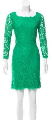 Diane von Furstenberg Zarita Guipure-Lace Mini Dress