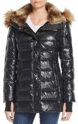 Aqua Faux Fur-Trim Hooded Puffer Jacket - 100% Exclusive
