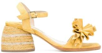 Paloma Barceló ruffle front sandals