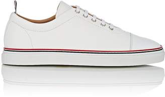 Thom Browne Men's Cap-Toe Grained Leather Sneakers