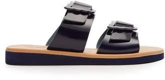 Ancient Greek Sandals Iaso patent leather sandals