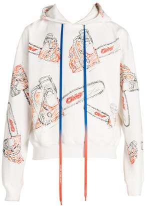 Off-White Off White Chainsaw-Print Hoodie
