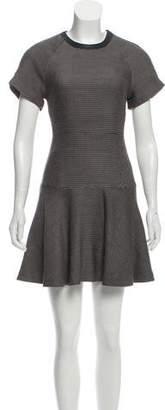 Rag & Bone Wool-Blend Mini Short Sleeve Dress