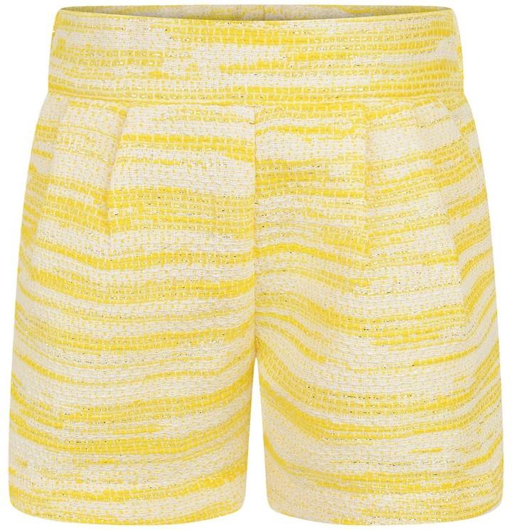Chloé Baby Girls Yellow Tweed Shorts