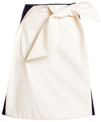 DELPOZO Cotton Bow Skirt
