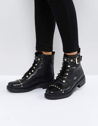 Carvela Son Leather Lace Up Boots