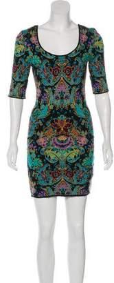 Torn By Ronny Kobo Mini Sheath Dress