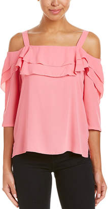 NYDJ Petite Cold-Shoulder Top