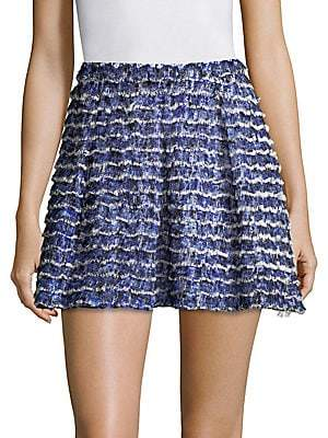 Proenza Schouler Women's Printed Fil Coupe Mini Skirt