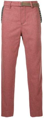 Sacai checked tailored trousers