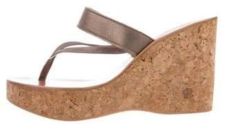 K Jacques St Tropez Thong Wedge Sandals