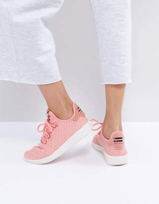 Adidas adidas Originals X Pharrell Williams Tennis HU Sneakers In Pink $100 thestylecure.com