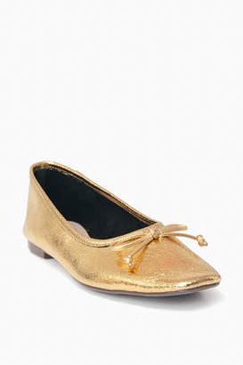 Schutz Ouro Gold Arissa Flats