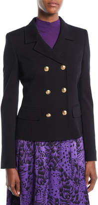 Escada Double-Breasted Short Jersey Blazer