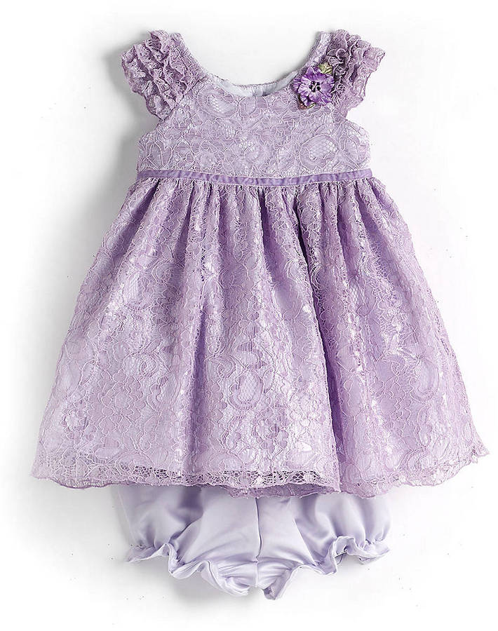 Laura Ashley Baby Girls 12-24 Months Two-Piece Lace Dress Set