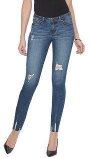 Women's Jennifer Lopez Destructed Skinny Ankle Jeans $64 thestylecure.com