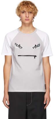 Fendi Grey and White Bag Bugs T-Shirt