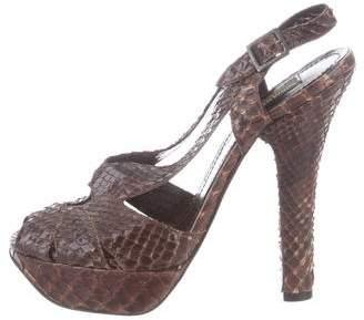 Sonia Rykiel Snakeskin Platform Sandals
