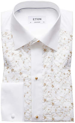 Eton Men's Contemporary-Fit Floral-Detail Formal Dress Shirt