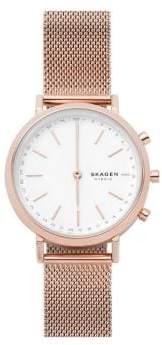 ff8a0a541c7cd Skagen Hald Stainless Steel Mesh Hybrid Smart Watch