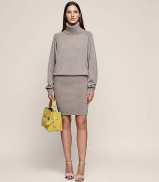Reiss Cyra Knitted Rollneck Dress
