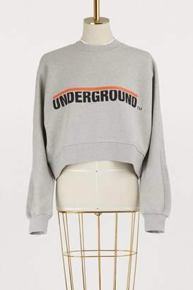 Etudes Underground cropped cotton sweatshirt