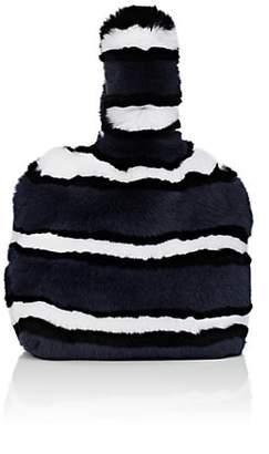 Barneys New York Women's Rabbit Fur Wristlet Bucket Bag - Navy
