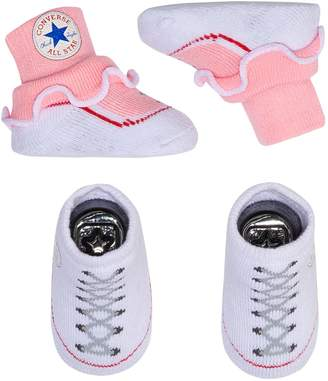 4af7500d8010 Converse Baby Girl 2-pack Chuck Patch Bootie Socks