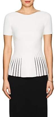Zac Posen Women's Compact Knit Peplum Top - White