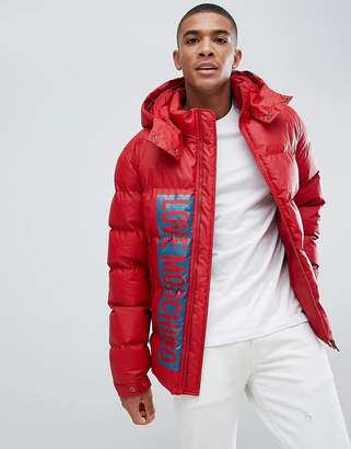 Love Moschino Printed Logo Puffer Jacket