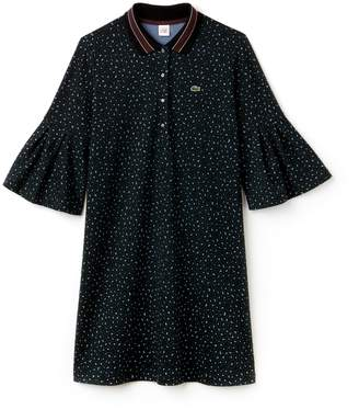 Lacoste Women's LIVE Leopard Print Interlock Polo Dress