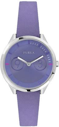 Furla 31mm Metropolis Leather Watch, Lilac
