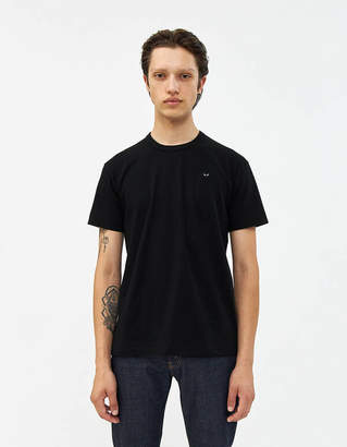 Comme des Garcons Short Sleeve Small Black Heart Tee in Black