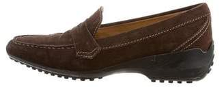 Tod's Pointed-Toe Penny Loafers