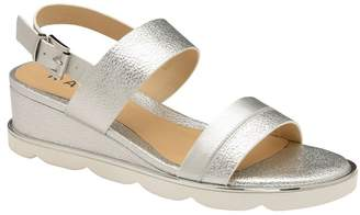 Ravel Womens Leather Wedges - Silver
