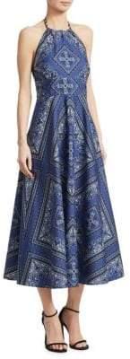 RED Valentino Cotton Canvas Halter Dress