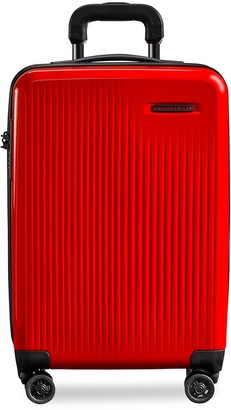 Briggs & Riley Sympatico carry-on expandable spinner suitcase Red