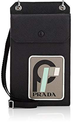 Prada Men's Logo Vertical Leather Pouch