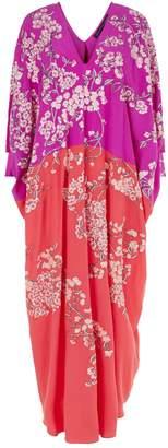 Natori Cocoon Silk Embroidered Kaftan