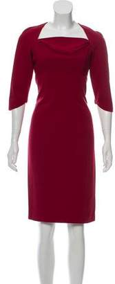 Black Halo Three-Quarter Sleeve Knee-Length Dress