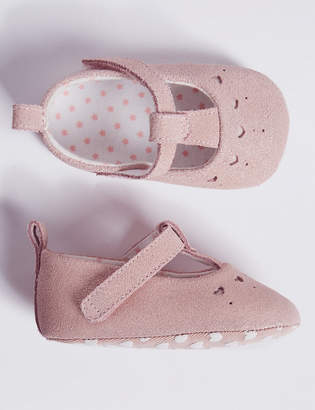 Marks and Spencer Baby Suede Sparkle Pram Shoes