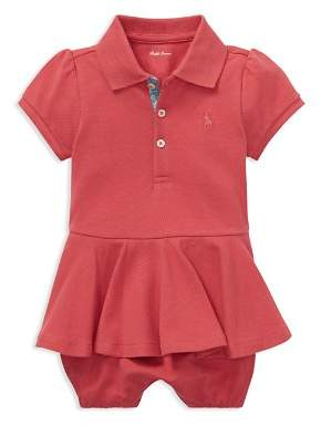 Ralph Lauren Girls' Peplum Romper & Bloomers Set - Baby