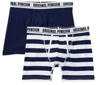 Original Penguin 2 Pack Boxer Brief - Cabana Stripes